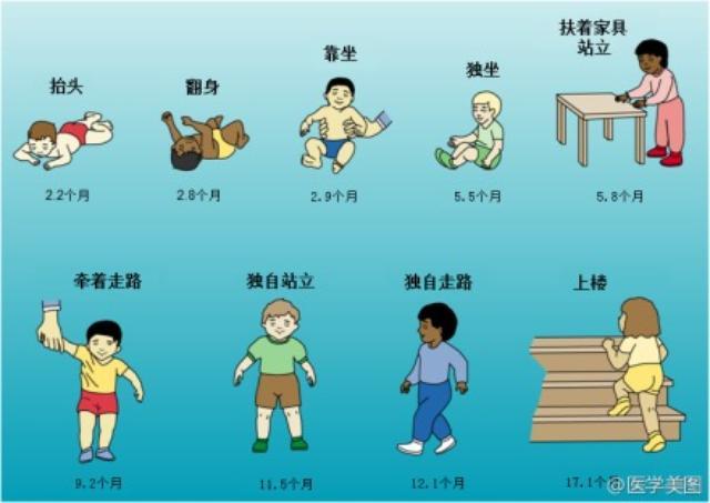 【信息图】儿童运动发育规律